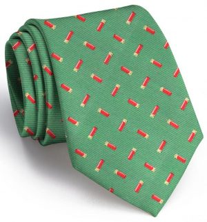 Shotgun Shells Club Tie: Extra Long - Green