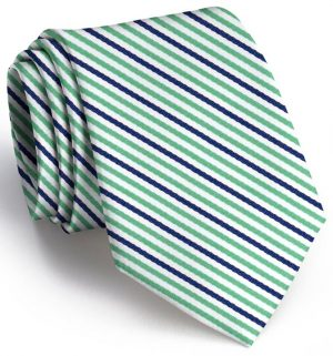 Emmet Stripe: Boys - Green/Navy