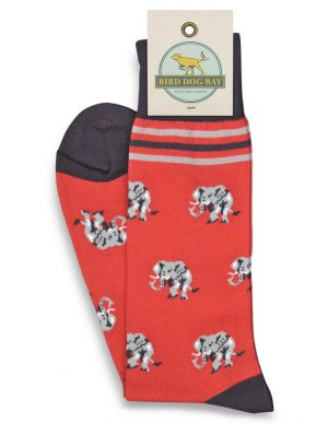 Elephant Stampede: Socks - Red
