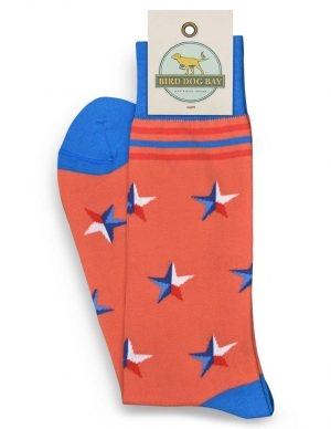 Stars Over Texas: Socks - Orange