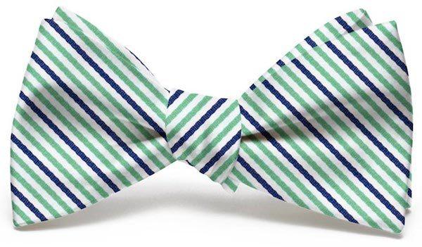 Emmet Stripe: Bow - Green/Navy