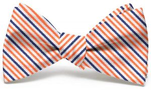 Emmet Stripe: Bow - Orange/Navy
