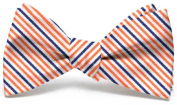 Emmet Stripe: Bow - Orange/Navy