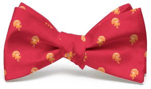 Turkey Club Tie: Bow - Red