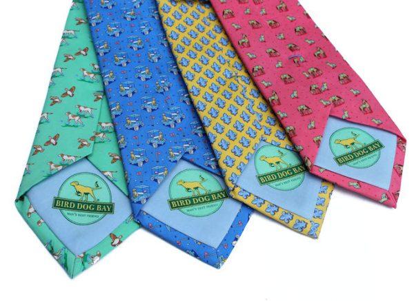 Emmet Stripe: Tie - Green/Navy