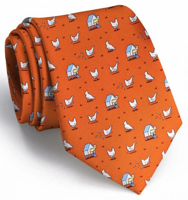 Fox in the Hen House: Tie - Orange