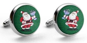 Cocktail Kringle: Cufflinks - Green