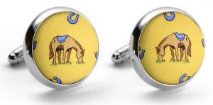 Horsin' Around: Cufflinks - Yellow