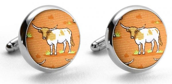 Longhorn Country: Cufflinks - Orange