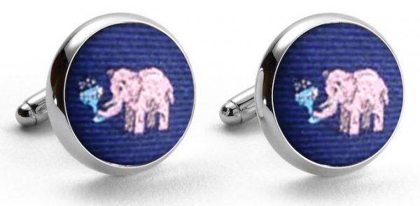 Pink Elephants Club: Cufflinks - Navy