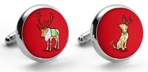 Reindeer Love: Cufflinks - Red