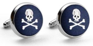 Skull & Crossbones Club: Cufflinks - Navy