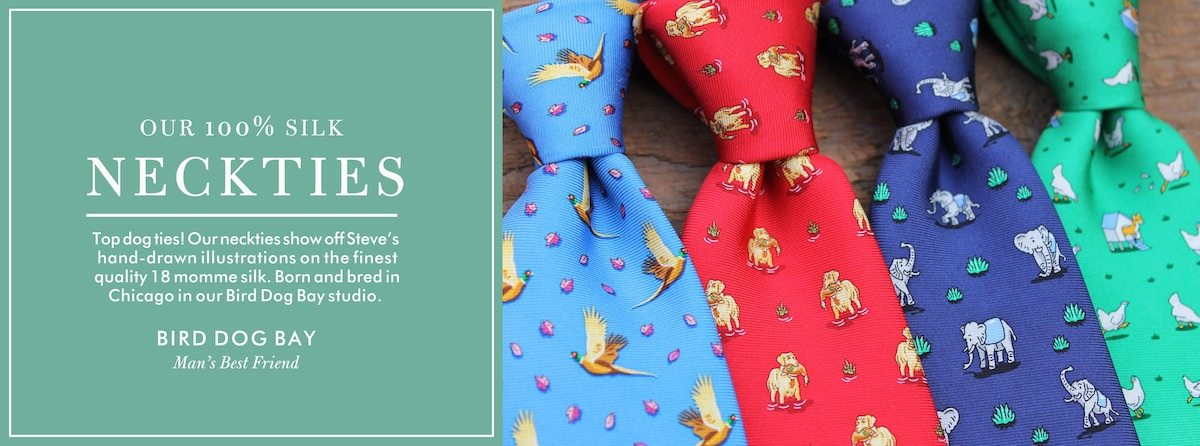 100 silk ties bird dog bay