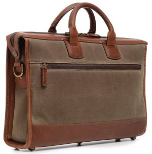 Sawyer: Briefcase - Waxed Canvas