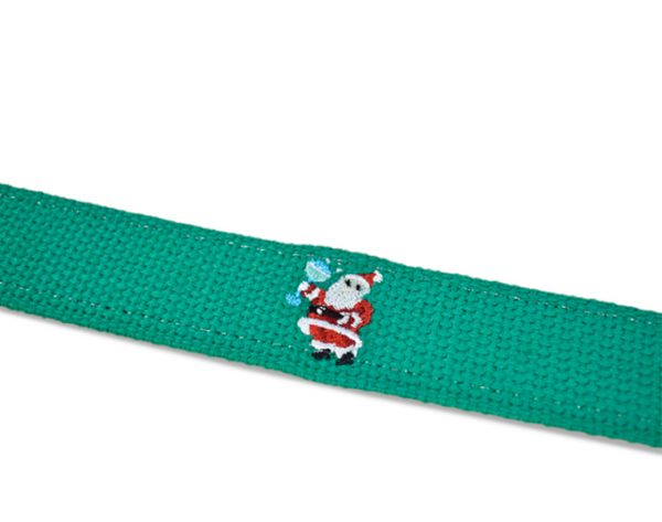 Santa Salud: Embroidered Belt - Green