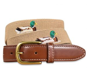 Sitting Duck: Embroidered Belt - Beige
