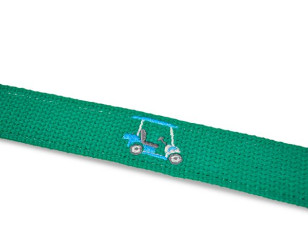 Sunday Drive: Embroidered Belt - Green