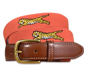 Tiger Tracks: Embroidered Belt - Orange