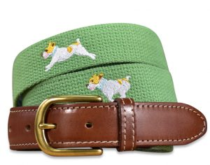 Playing Jacks: Embroidered Belt - Sage