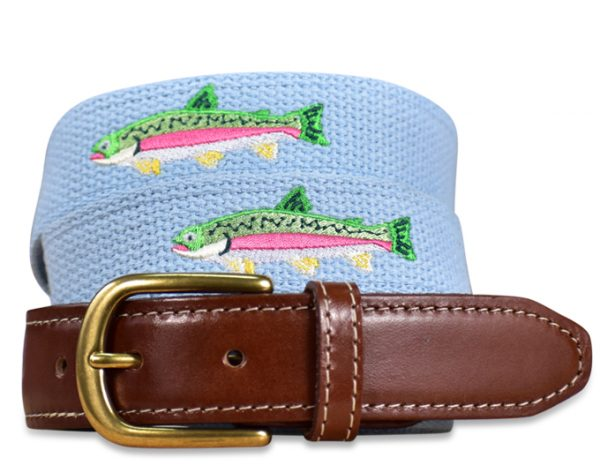Over The Rainbow: Embroidered Belt - Light Blue