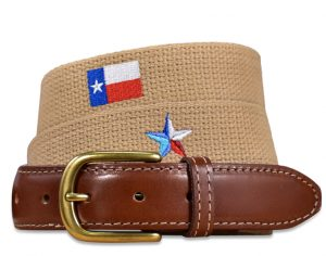 Stars Over Texas: Embroidered Belt - Beige