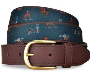 Fox Hunt: Pedigree English Woven Belt - Green
