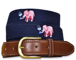 Tipsy Trunks: Embroidered Belt - Navy