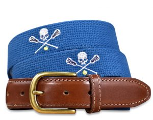 Lacrosse-Bones: Embroidered Belt - Royal Blue