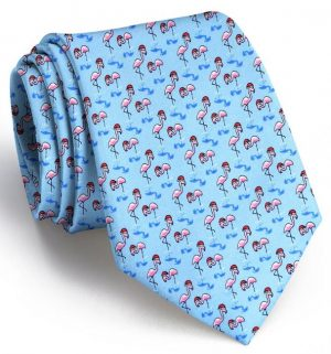 Snow Birds: Tie - Blue