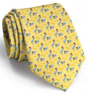 Snow Birds: Tie - Yellow