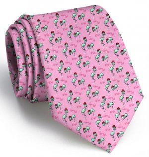 Snow Birds: Tie - Pink