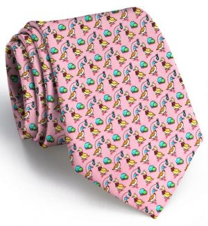 Christmas Quackers: Tie - Pink