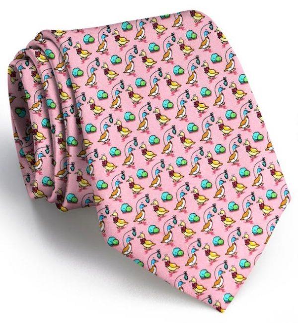 Christmas Quackers: Tie - Pink