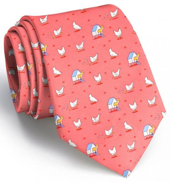 Fox in the Hen House: Tie - Coral