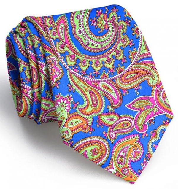 Vintage Tapestry: Tie - Blue