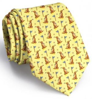 Dogleg on Six: Tie - Yellow/Chocolate