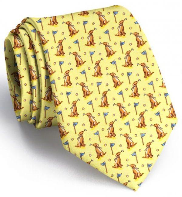 Dogleg on Six: Tie - Yellow/Chocolate