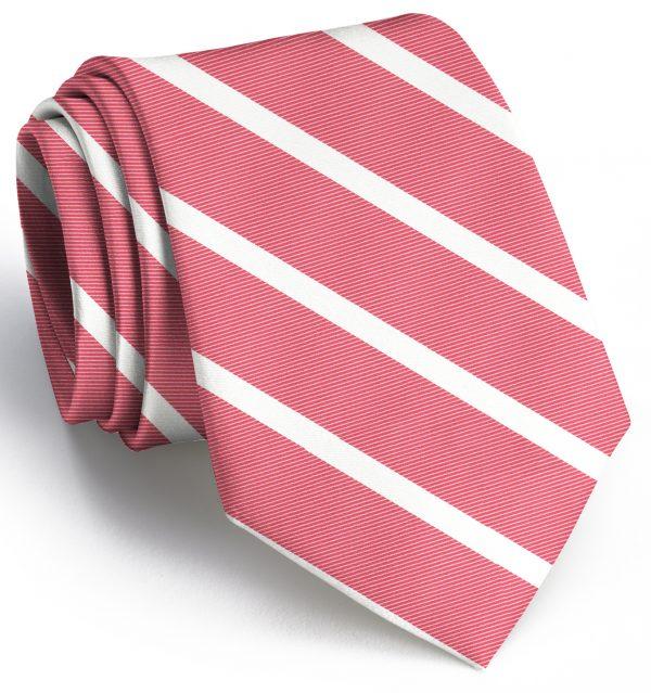 Beau Brummel Stripe: Tie - Coral