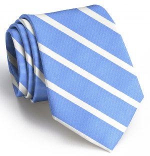Beau Brummel Stripe: Tie - Blue