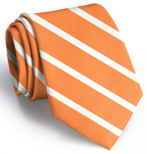 Beau Brummel Stripe: Tie - Orange