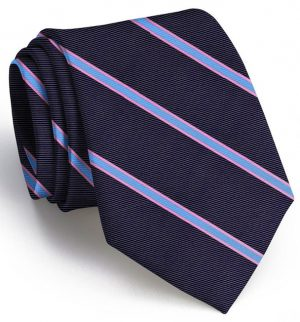 Boardroom Stripe: Tie - Navy