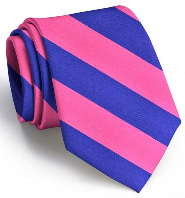 Clarkson Stripe: Tie - Fuchsia/Blue
