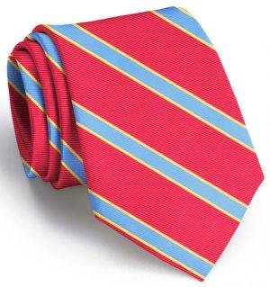 Van Tassel Stripe: Tie - Red/Blue