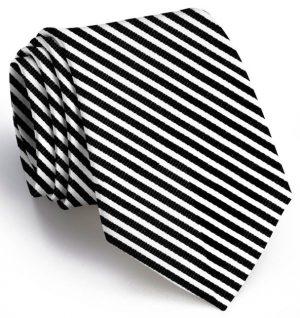 Chapman Stripe: Tie - Black/White