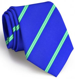 Railroad Stripe: Tie - Mid Blue