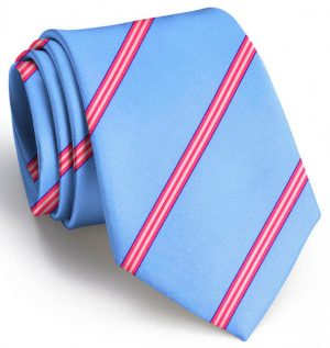 Railroad Stripe: Tie - Light Blue