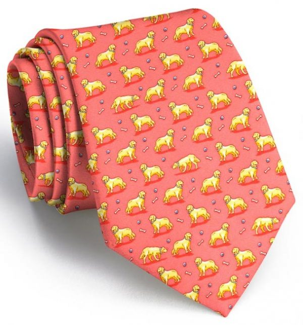 Puppy Love: Tie - Coral