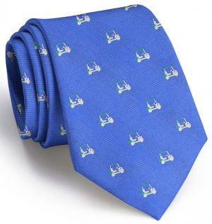 Golf Cart Club Tie: Tie - Blue