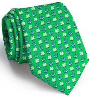 Lucky Horseshoe: Tie - Green
