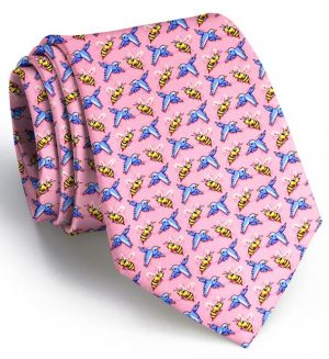 Birds and the Bees: Tie - Pink